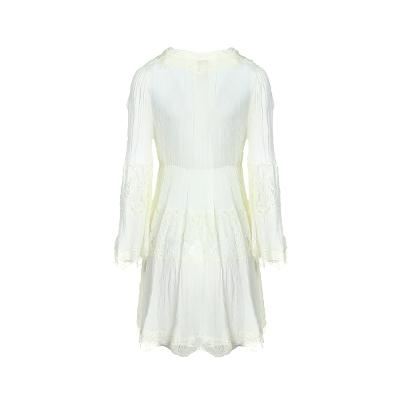 wrinkle detail long blouse ivory